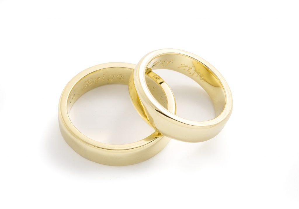 Trouwringen-gouden ringen-duo ringen-14 karaat goud-18 karaat goud